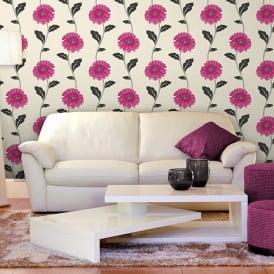 Fine Decor Marguerite Pink Flower Floral Wallpaper W793345