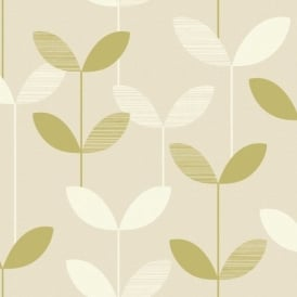 Fine Decor Whitewell Interiors Anika Leaf Wallpaper 793350