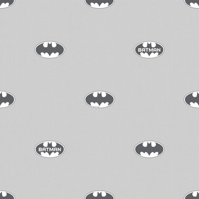 Galerie Wallcoverings Galerie Official Batman Logo Bat Symbol Pattern DC Comics Childrens Wallpaper BT9004-1