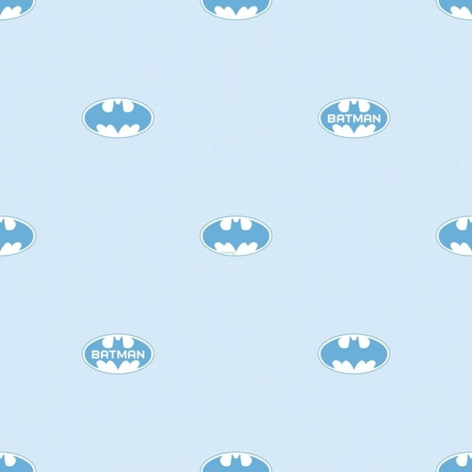 Galerie Wallcoverings Galerie Official Batman Logo Bat Symbol Pattern DC Comics Childrens Wallpaper BT9004-2