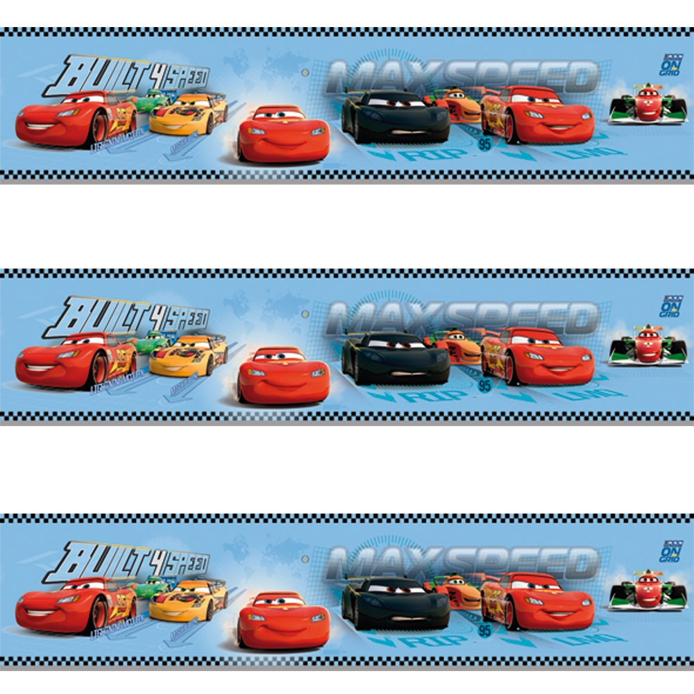 Perfect Galerie Official Disney Cars Lightning McQueen Childrens Wallpaper Border  CR3505 1
