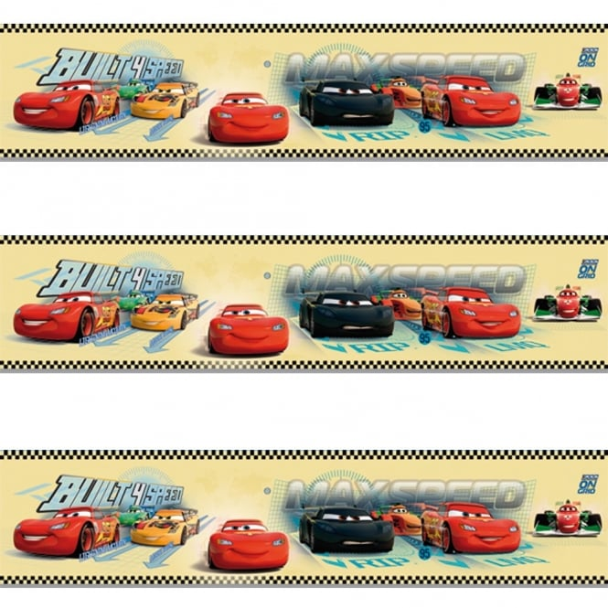 Disney Galerie Official Cars Lightning McQueen Childrens Wallpaper Border CR3505-2