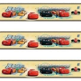 Galerie Official Disney Cars Lightning McQueen Childrens Wallpaper Border CR3505-2