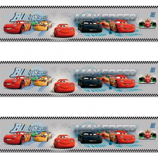 Disney Galerie Official Cars Lightning McQueen Childrens Wallpaper Border CR3505-3