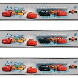 Galerie Official Disney Cars Lightning McQueen Childrens Wallpaper Border CR3505-3