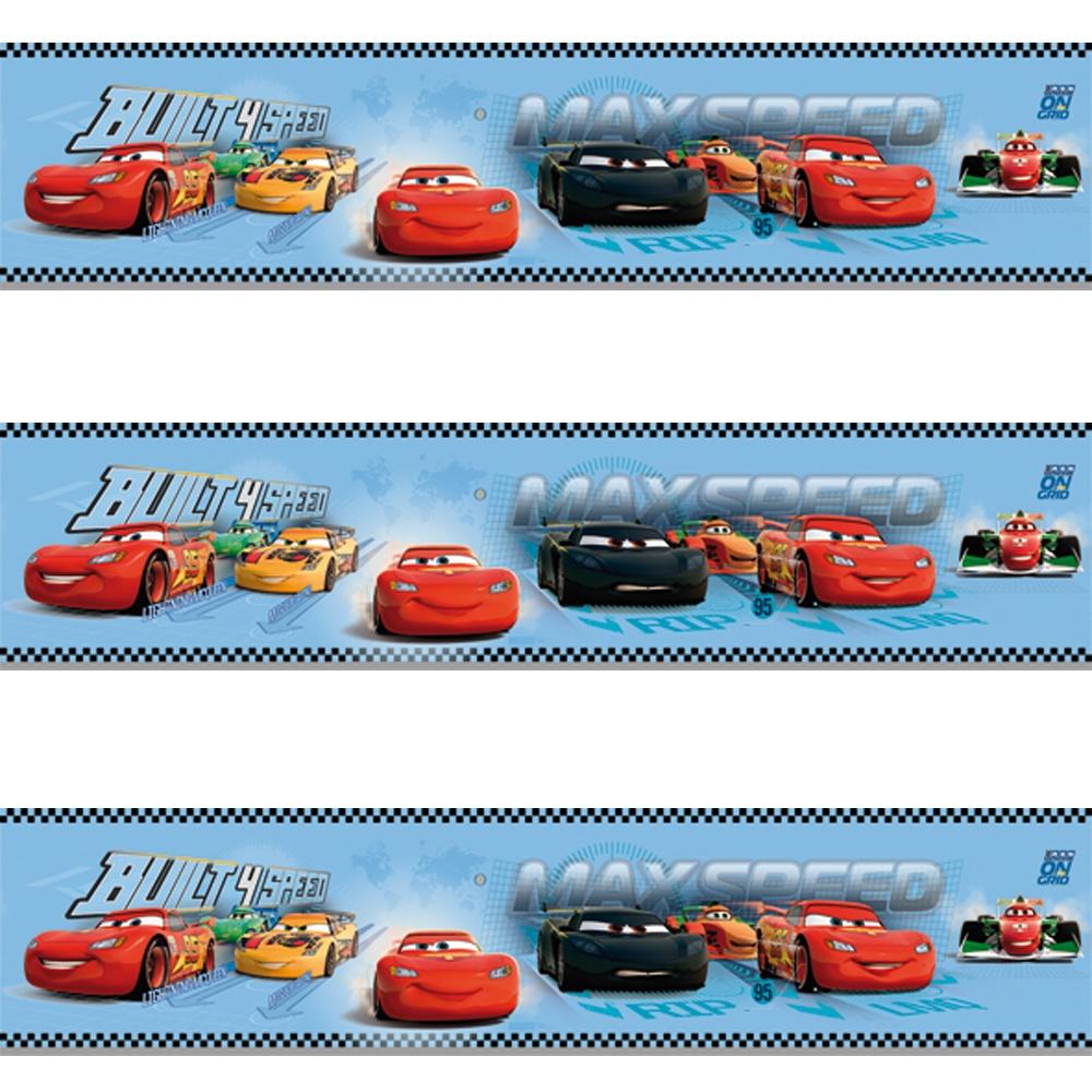 Galerie Official Disney Cars Lightning Mcqueen Childrens Wallpaper Border Cr3505 1 Blue I Want Wallpaper