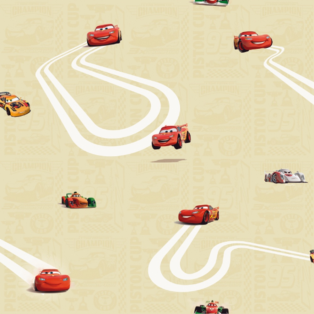 Galerie Official Disney Cars Lightning McQueen Childrens Wallpaper ...