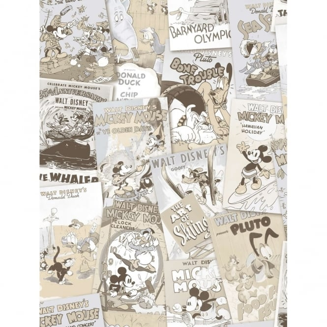 Galerie Wallcoverings Galerie Official Disney Mickey Minnie Donald Duck Comic Cover Childrens Wallpaper DY3012-3