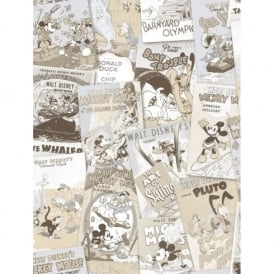 Galerie Official Disney Mickey Minnie Donald Duck Comic Cover Childrens Wallpaper DY3012-3