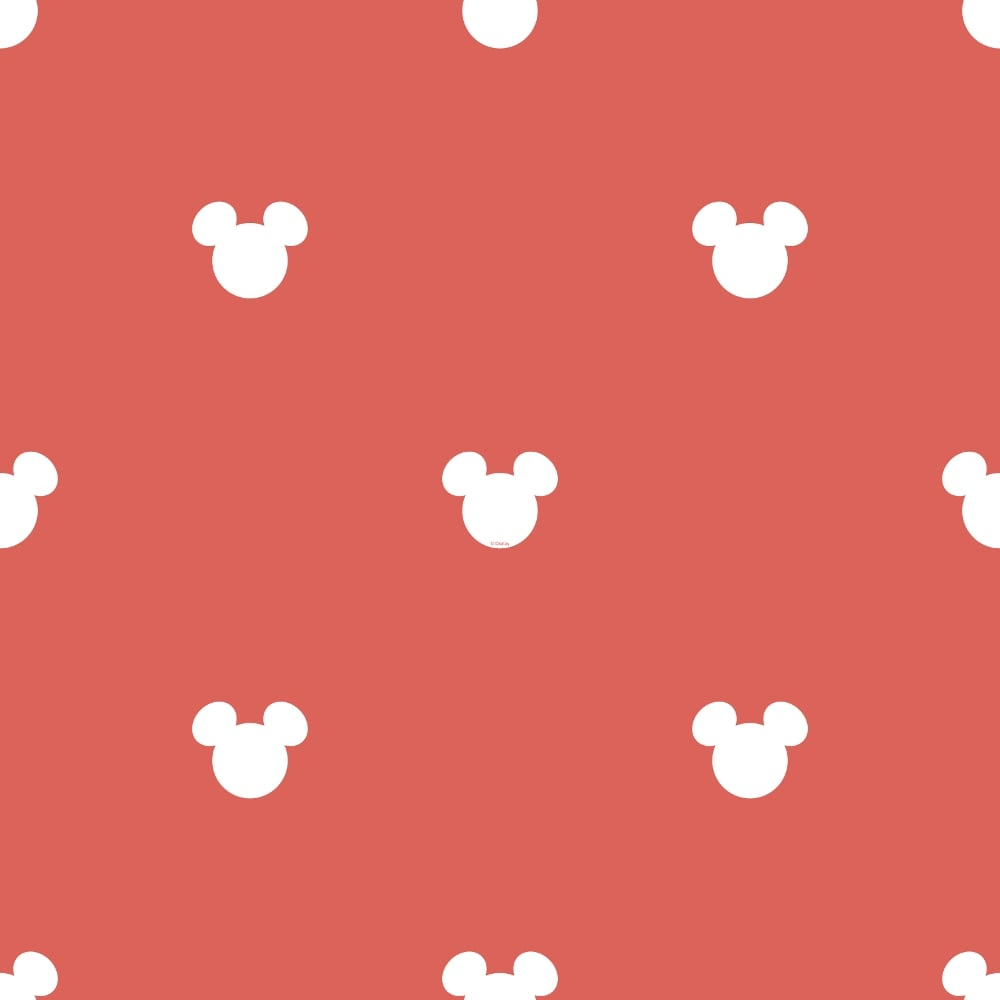 Official Disney Mickey Mouse Logo Pattern Childrens Wallpaper MK30151
