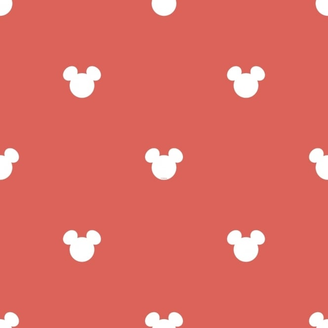 Galerie Wallcoverings Galerie Official Disney Mickey Mouse Logo Pattern Cartoon Childrens Wallpaper MK3015-1