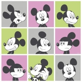 Galerie Official Disney Mickey Mouse Pop Art Pattern Cartoon Childrens Wallpaper MK3013-3