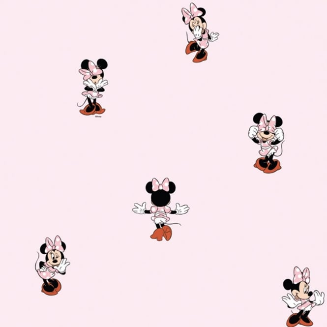 Disney Galerie Official Minnie Mouse Childrens Bedroom Washable Wallpaper MN3002-3
