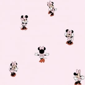 Galerie Official Disney Minnie Mouse Childrens Bedroom Washable Wallpaper MN3002-3
