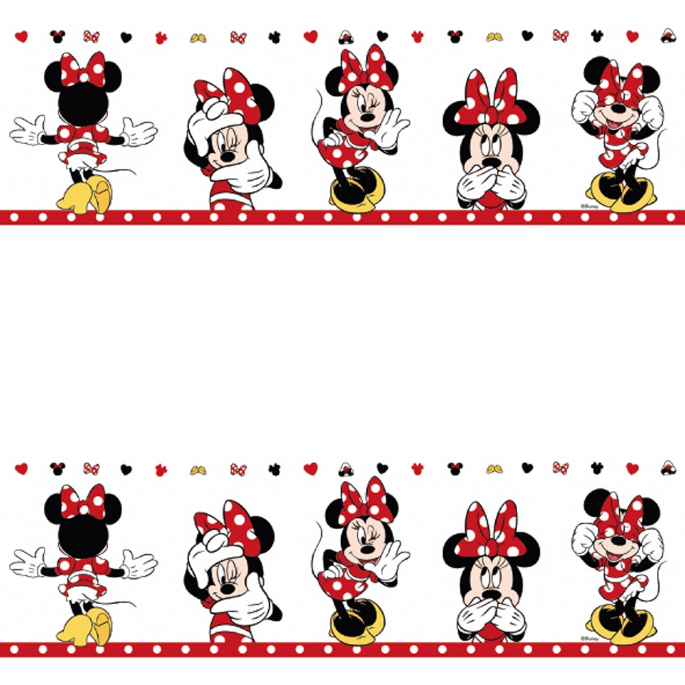 Galerie Official Minnie Mouse Childrens Nursery Wallpaper Border Mn3502 1