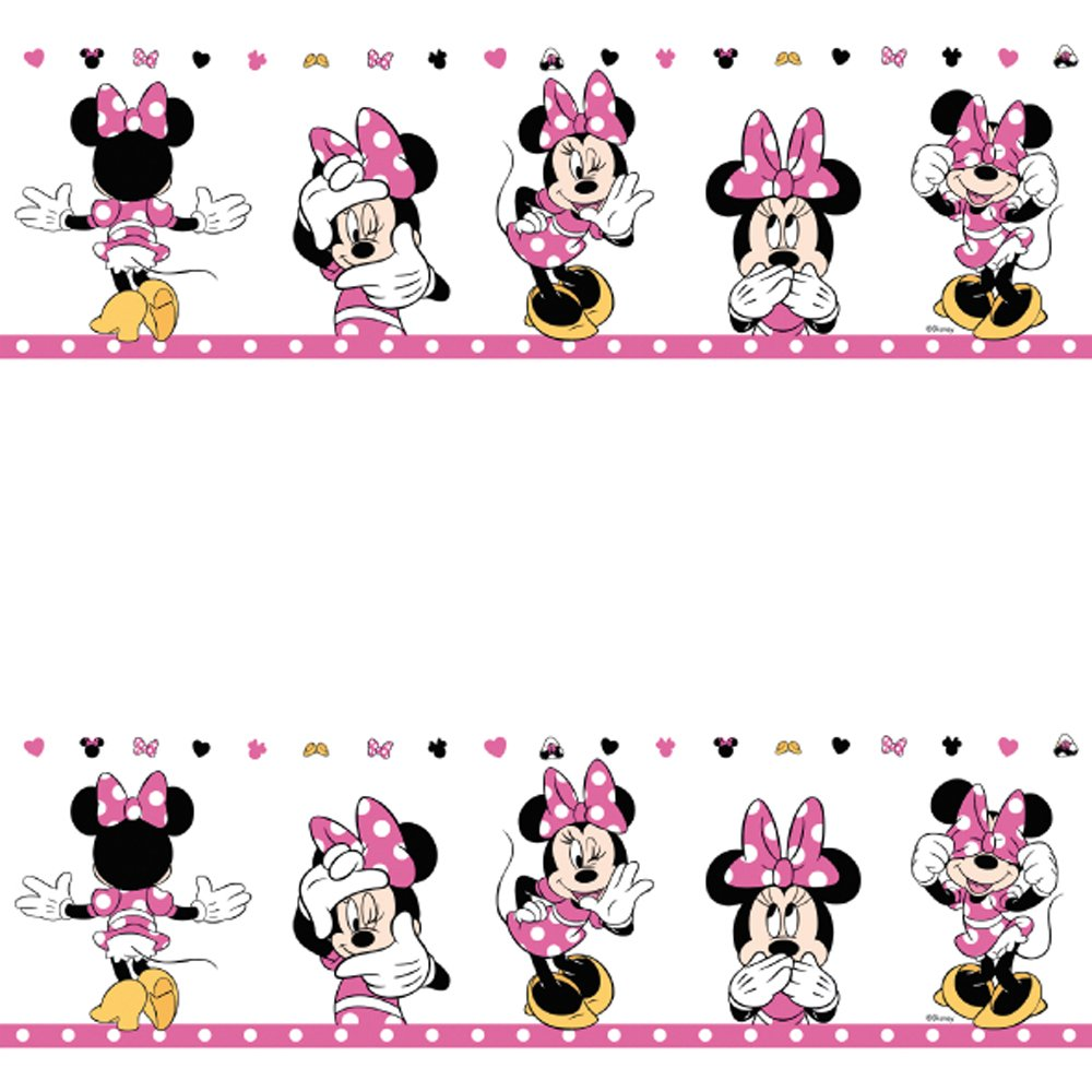 Disney Galerie Official Disney Minnie Mouse Childrens Nursery Wallpaper  Border MN3502-2