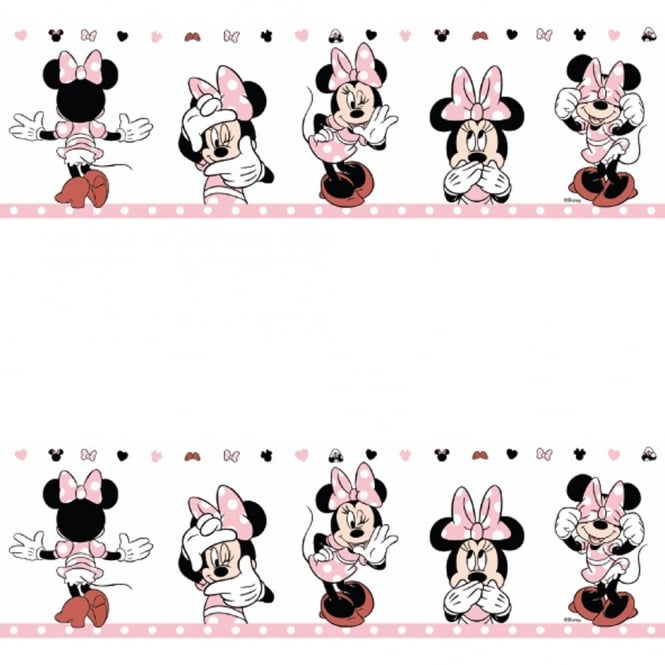 Disney Galerie Official Minnie Mouse Childrens Nursery Wallpaper Border MN3502-3