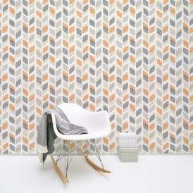 Galerie Unplugged Abstract Leaf Pattern Retro Geometric Vinyl Wallpaper UN3002