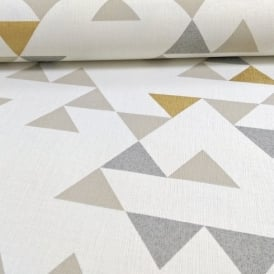 Galerie Unplugged Triangle Pattern Geometric Metallic Gold Vinyl Wallpaper UN3106