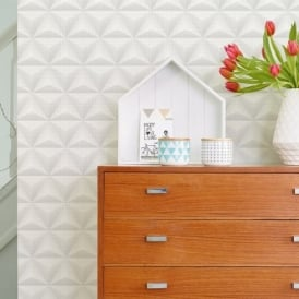 Galerie Unplugged Triangle Spots Pattern Geometric Metallic Vinyl Wallpaper UN3301