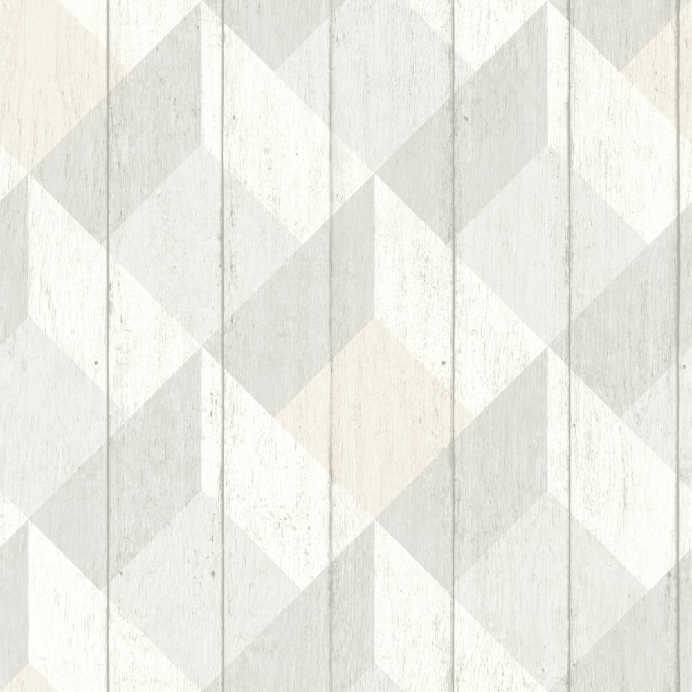 White Wood Effect Wallpaper Part - 44: Galerie Unplugged Wood Panel Effect Triangle Pattern Textured Vinyl  Wallpaper UN3201