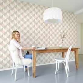 Galerie Unplugged Wood Panel Effect Triangle Pattern Textured Vinyl Wallpaper UN3204