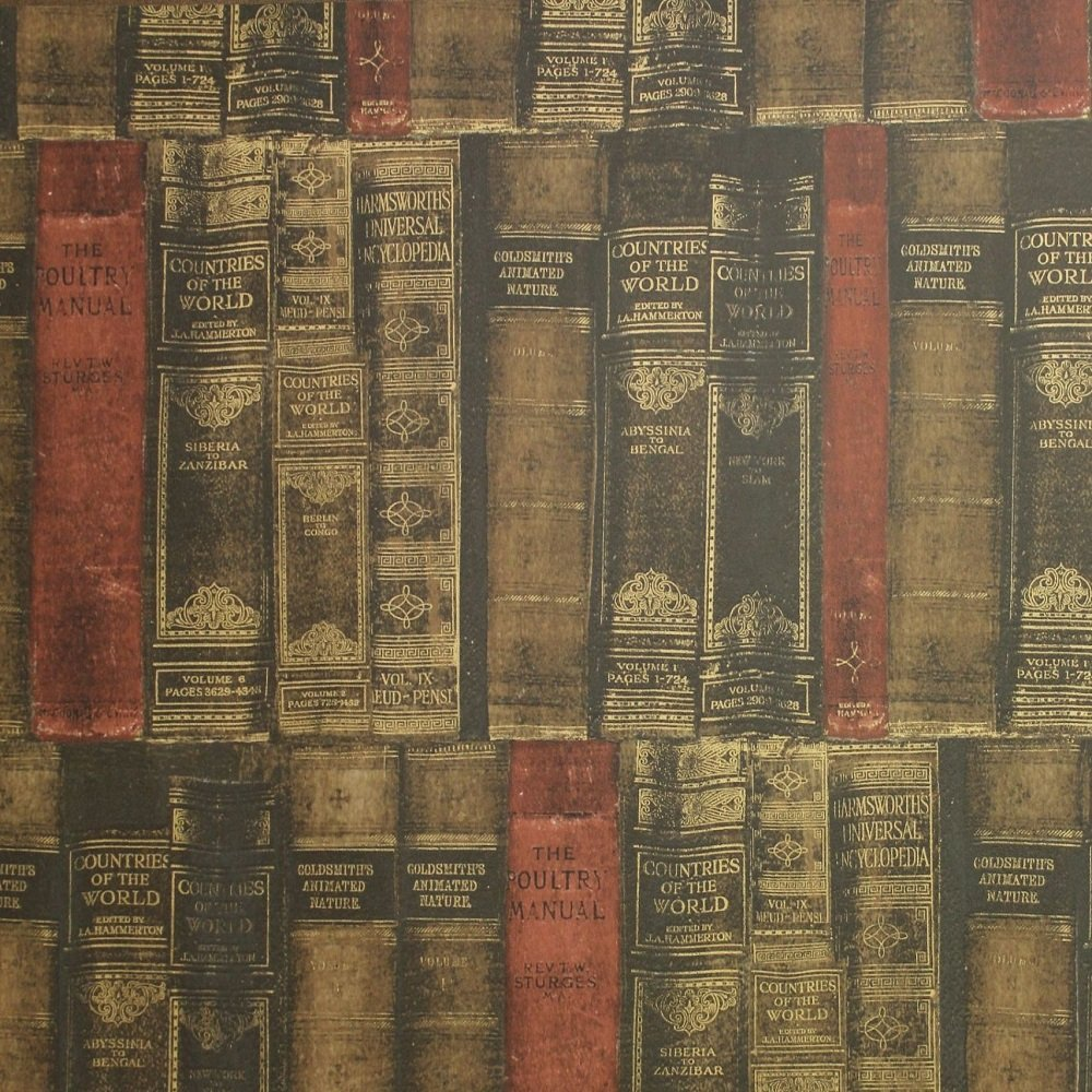 Galerie Wallcoverings Galerie Memories  Antique Books Wallpaper G P Zoom