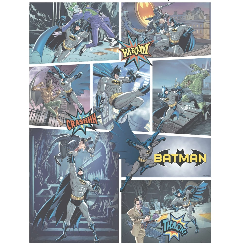Galerie Official Batman Comic Strip Pattern DC Joker Childrens Wallpaper BT9001 1