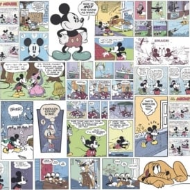 Galerie Official Disney Mickey Minnie Donald Duck Comic Cartoon Childrens Wallpaper DY3011-1