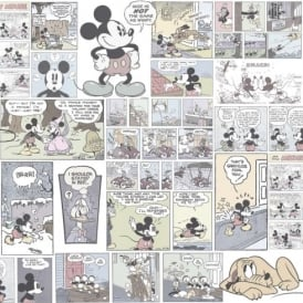 Galerie Official Disney Mickey Minnie Donald Duck Comic Cartoon Childrens Wallpaper DY3011-2