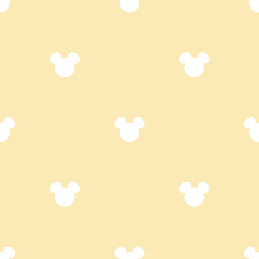 Galerie Official Disney Mickey Mouse Logo Pattern Cartoon Childrens Wallpaper Mk3015 3 Yellow I Want Wallpaper