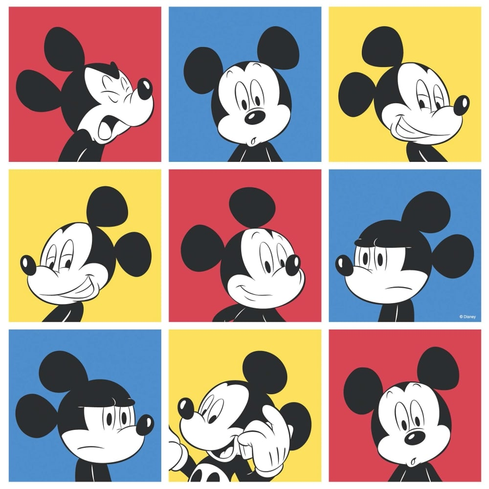 Galerie Official Disney Mickey Mouse Pop Art Pattern Cartoon Childrens Wallpaper MK3013 1