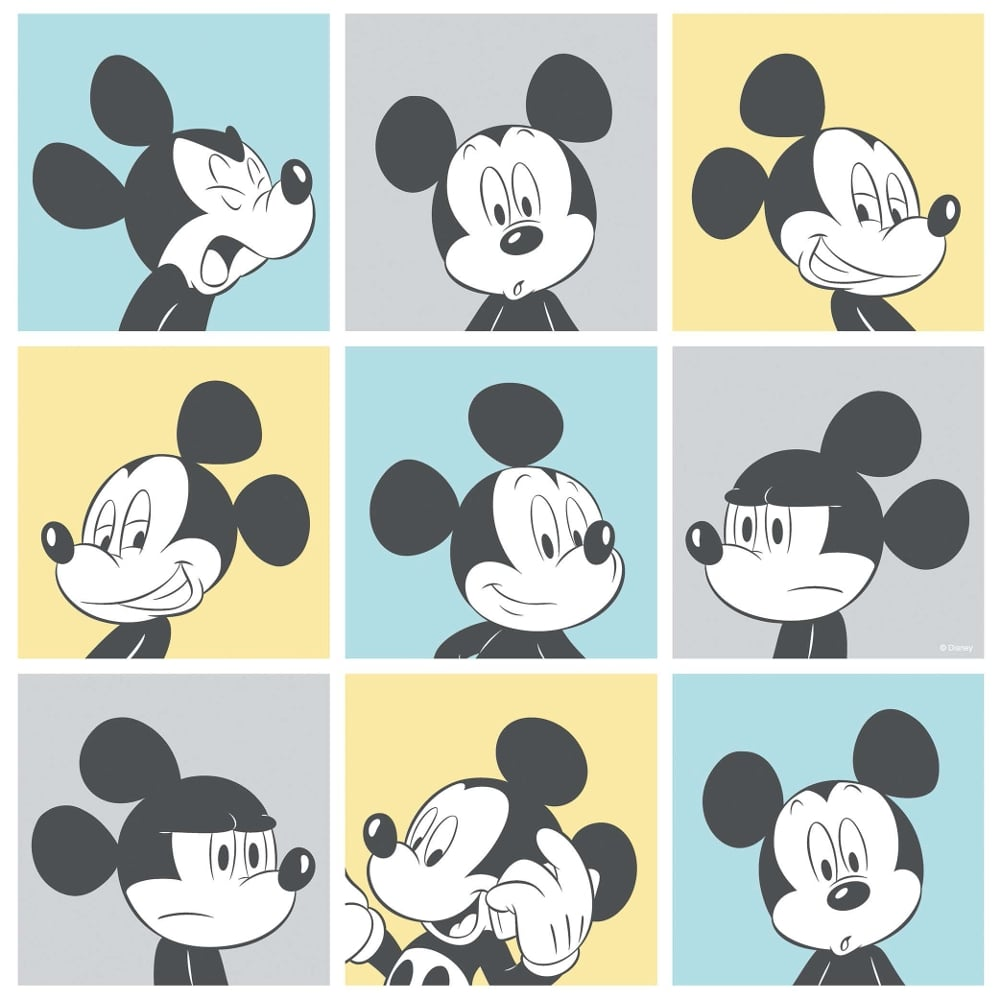 Galerie Official Disney Mickey Mouse Pop Art Pattern Cartoon Childrens Wallpaper MK3013-2
