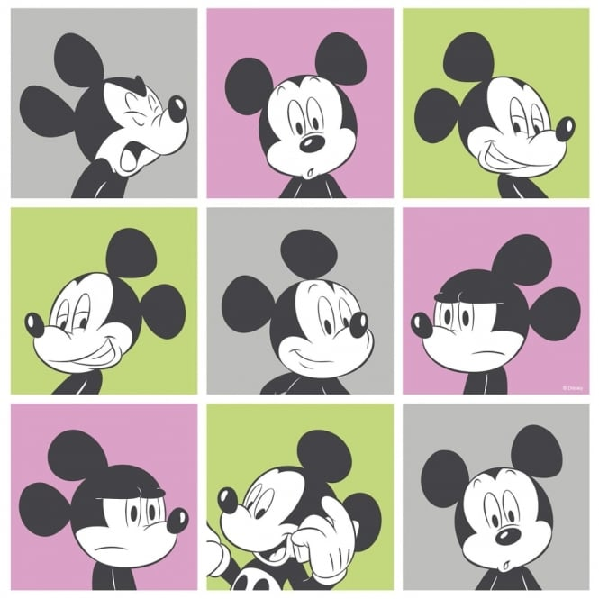 Galerie Wallcoverings Galerie Official Disney Mickey Mouse Pop Art Pattern Cartoon Childrens Wallpaper MK3013-3