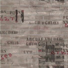 Galerie YOLO Brick Wall Pattern Graffiti Design Urban Mural Wallpaper 12103107
