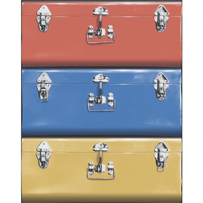 Galerie Wallcoverings Galerie Yolo Suitcase Luggage Pattern Retro Americana Travel Wallpaper 5005-1
