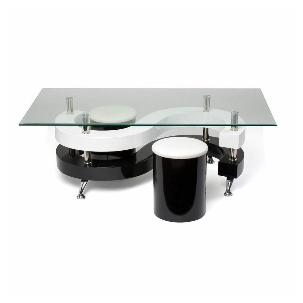 - Gr8 Home S Shape Rectangular Glass Dining Coffee Table And 2