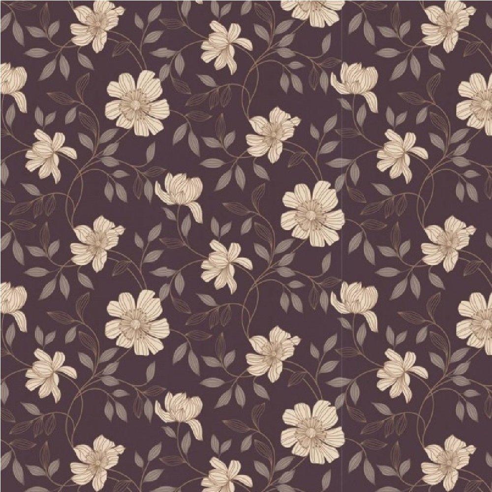Graham amp Brown Camille Floral Textured Metallic Vinyl