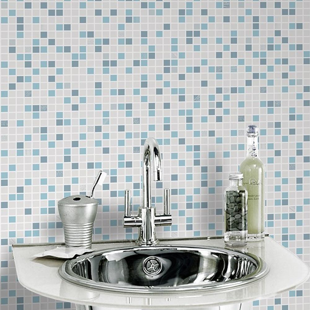 Graham Brown Checker Pattern Tile Vinyl Bathroom