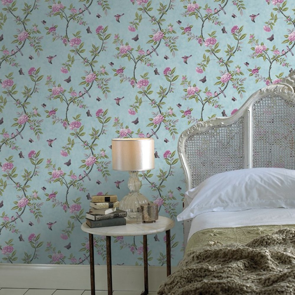 graham amp brown chinoiserie bird butterfly floral leaf