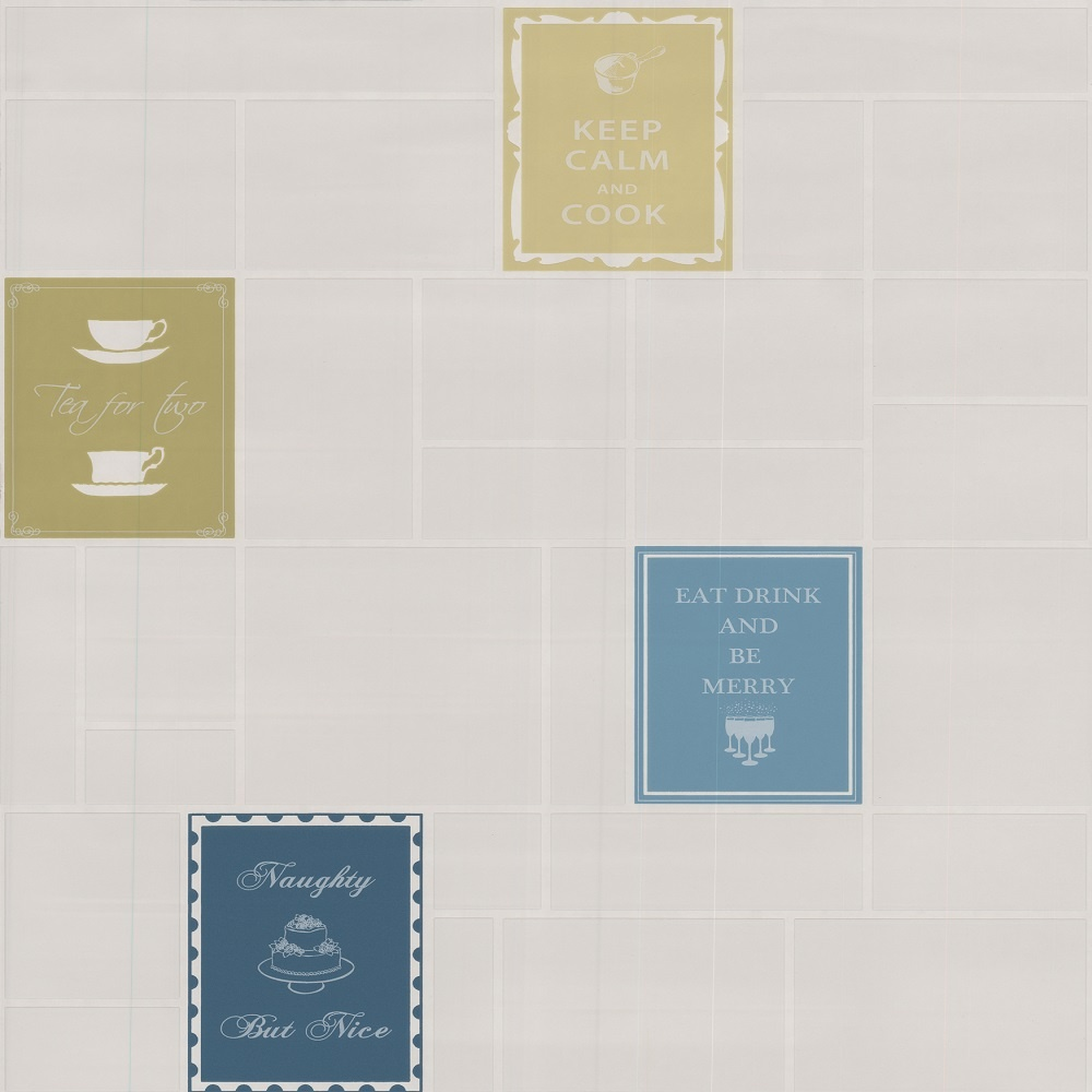 Graham Brown Contour Beige Natural Stone Tile Kitchen: Graham & Brown Contour Keep Calm Kitchen Vinyl Wallpaper