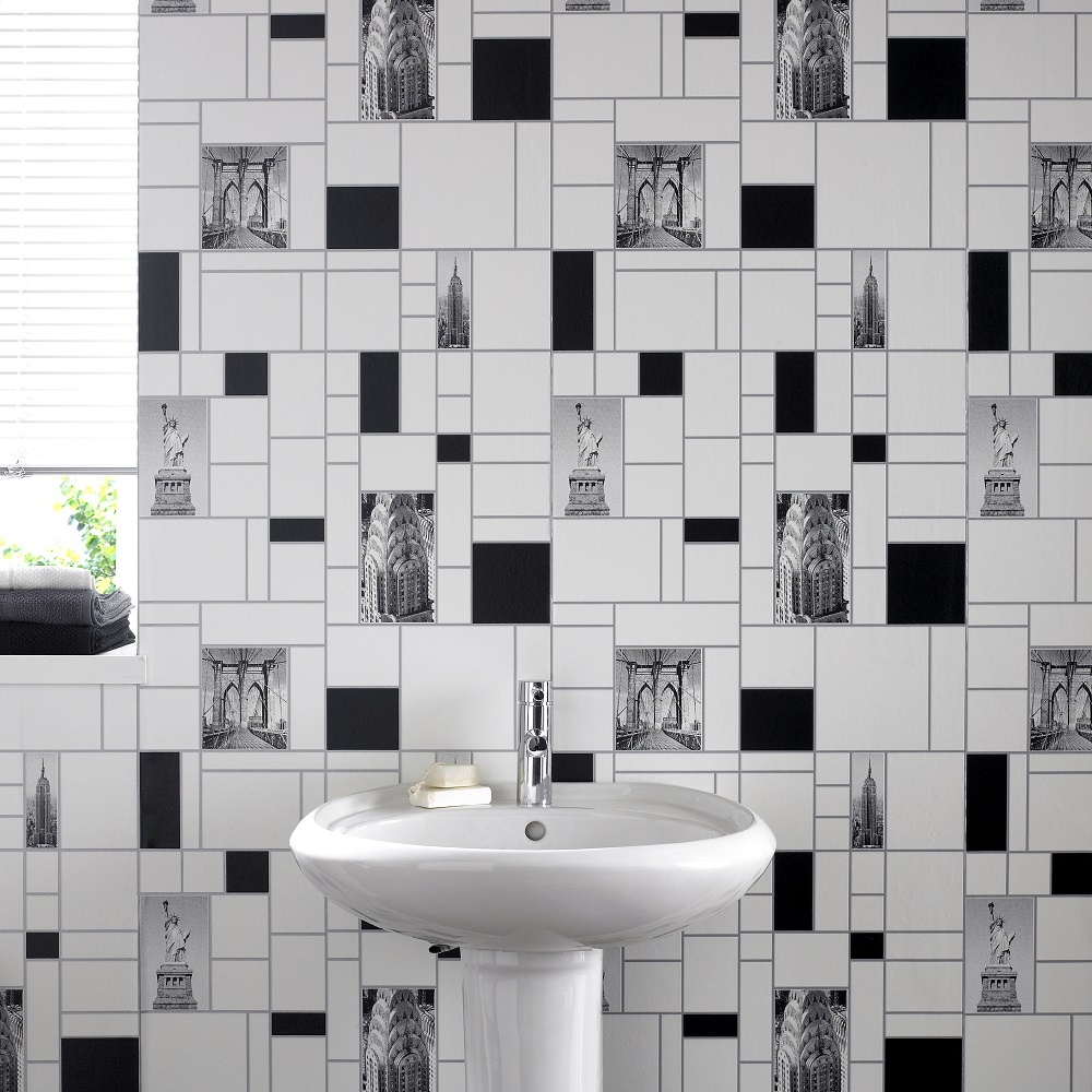 Graham brown contour nyc tile new york kitchen bathroom for Kitchen and bathroom wallpaper