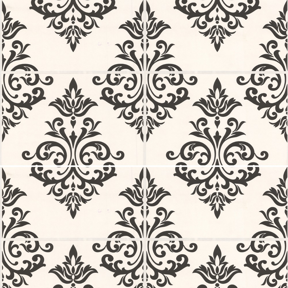 Graham Brown Contour Beige Natural Stone Tile Kitchen: Graham & Brown Contour Pallade Damask Tile Effect Kitchen