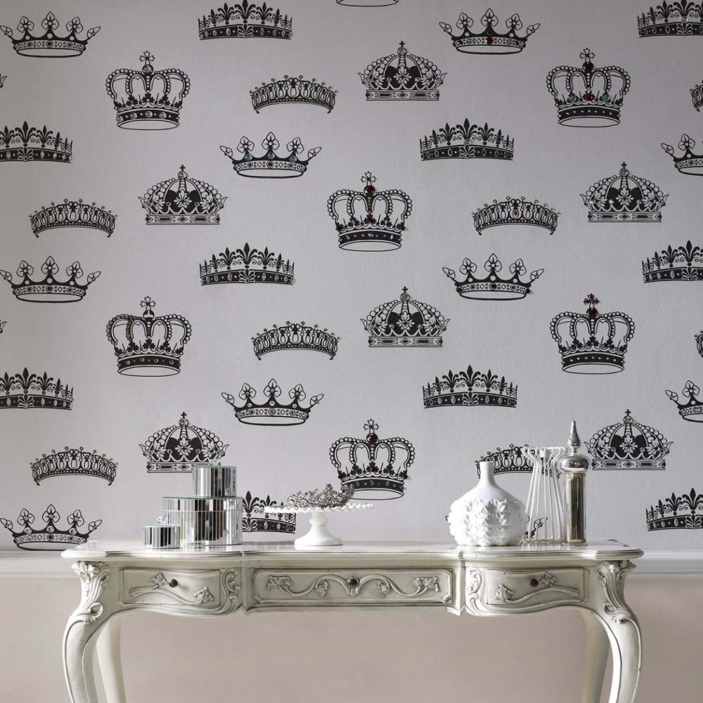 graham brown crowns and coronets motif black white
