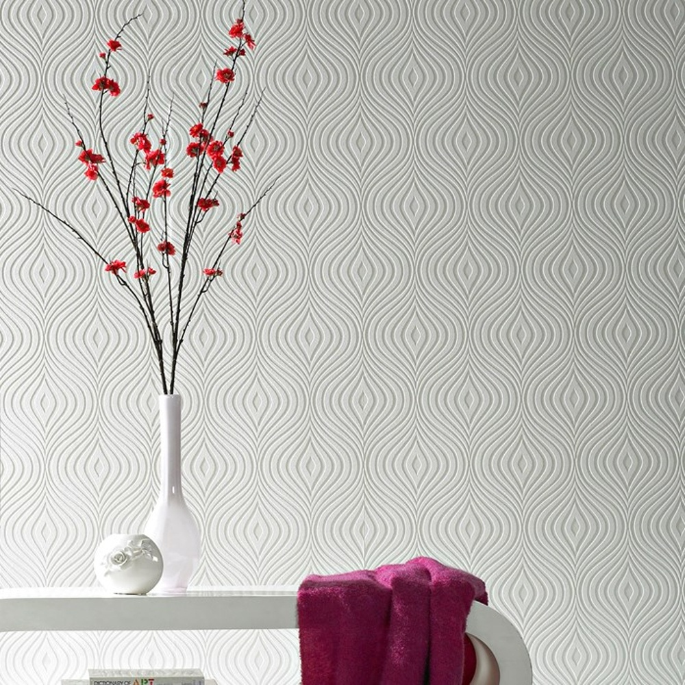 graham brown curvy pattern paintable embossed vinyl