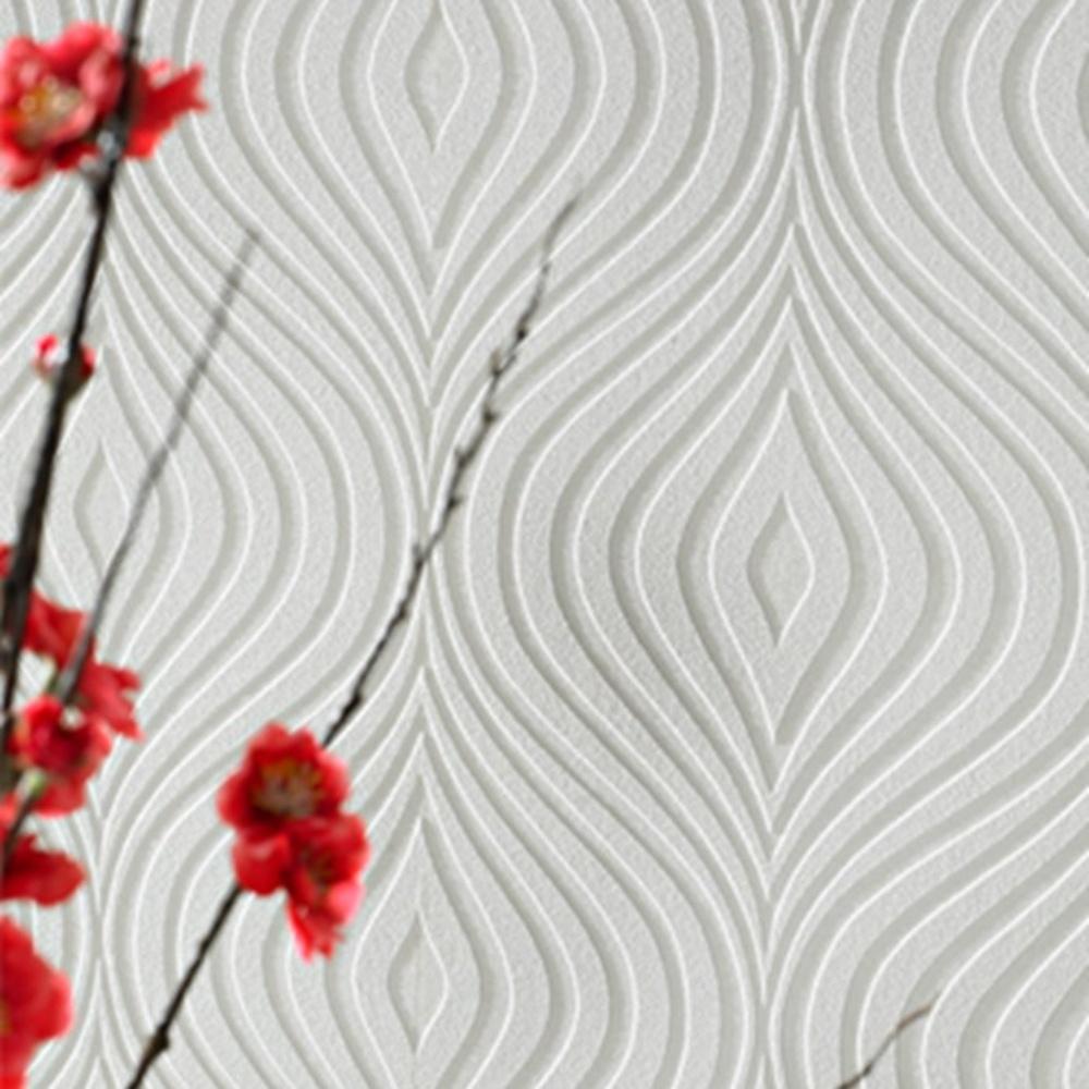 Graham brown curvy pattern paintable embossed vinyl for Paintable wallpaper