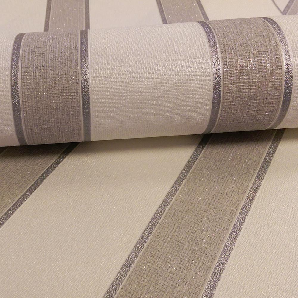 Graham brown duke striped glitter metallic textured for White wallpaper uk