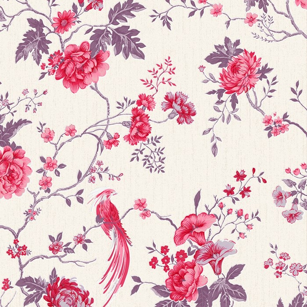 Image gallery oriental flower pattern for Oriental style wallpaper uk