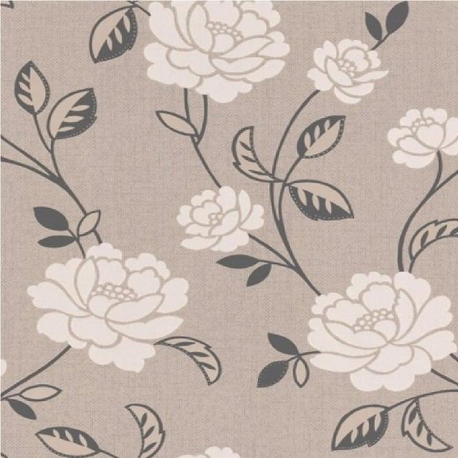 Graham Brown Fleur Mushroom Floral Wallpaper 18921