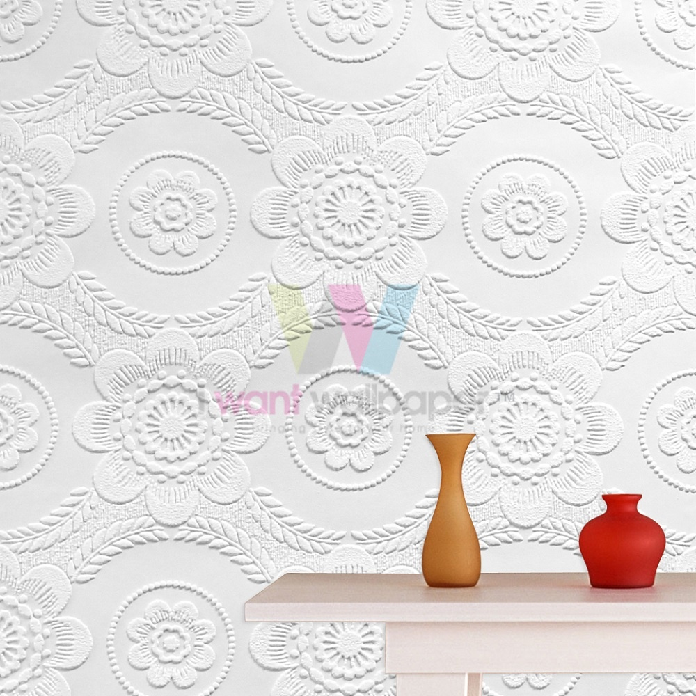Graham brown floral ceiling paintable textured vinyl for Graham and brown bathroom wallpaper